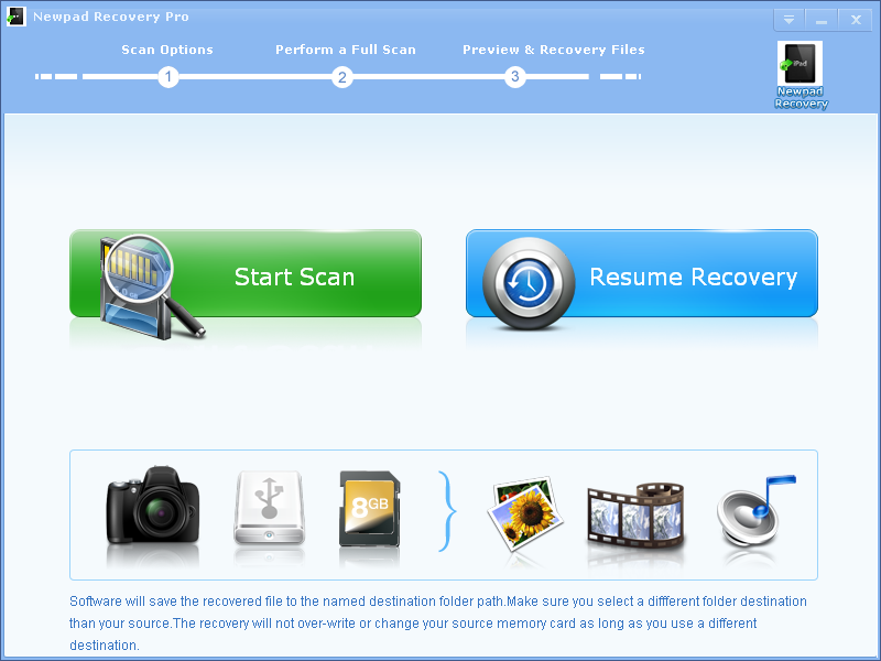 Click to view Newpad Recovery Pro screenshots