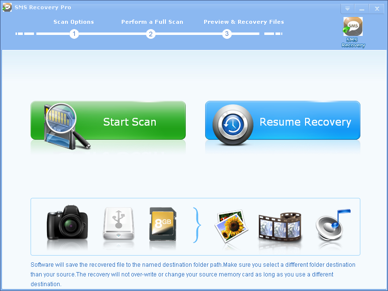 Click to view SMS Recovery Pro screenshots