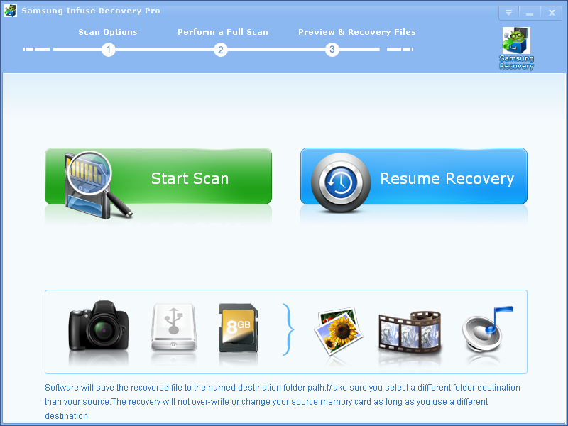 Click to view Samsung Infuse Recovery Pro screenshots