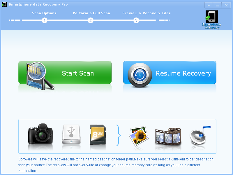 Click to view Smartphone Data Recovery Pro screenshots