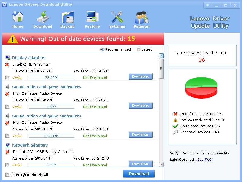 Lenovo Drivers Download Drivers Update Tool - LionSea Software