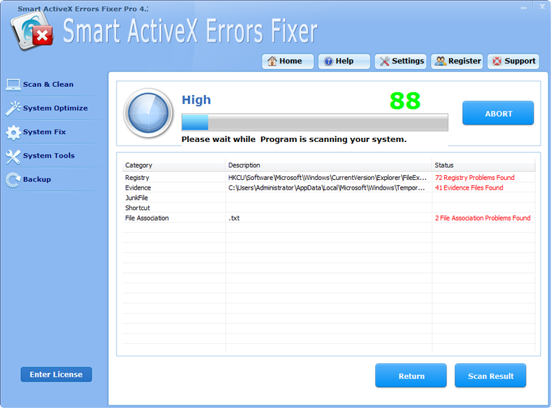 Click to view Smart ActiveX Errors Fixer Pro screenshots