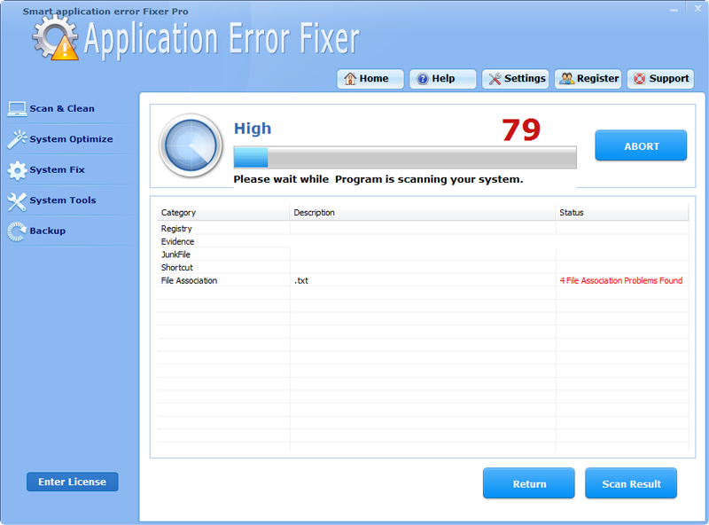 Click to view Smart Application Error Fixer Pro screenshots