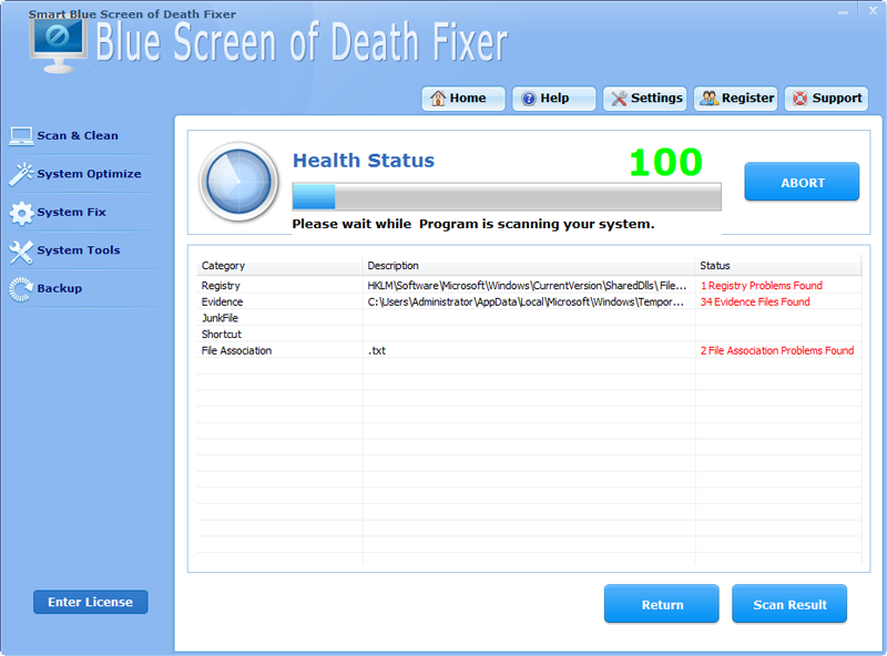 Smart Blue Screen Of Death Fixer Pro