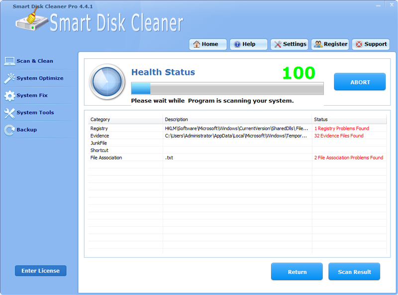Click to view Smart Disk Cleaner Pro screenshots