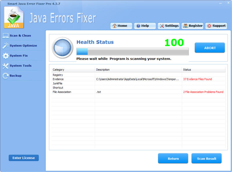 Click to view Smart Java Error Fixer Pro 4.3.7 screenshot