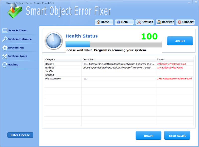 Click to view Smart Object Error Fixer Pro 4.3.2 screenshot