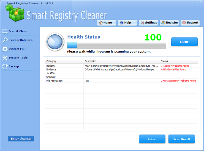 Click to view Smart Registry Cleaner Pro screenshots