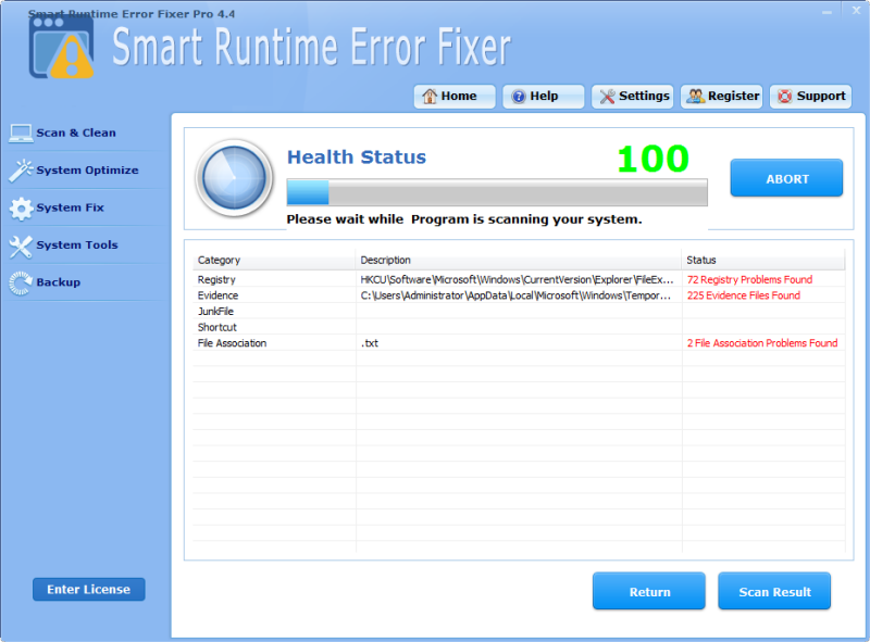 Click to view Smart Runtime Error Fixer Pro screenshots