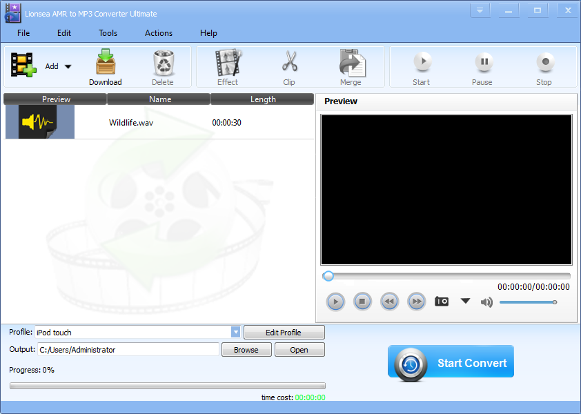 Windows 7 Lionsea AMR To MP3 Converter Ultimate 4.8.2 full