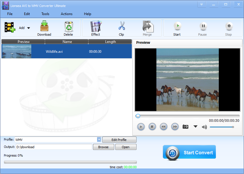 Windows 7 Lionsea AVI To WMV Converter Ultimate 4.9.5 full