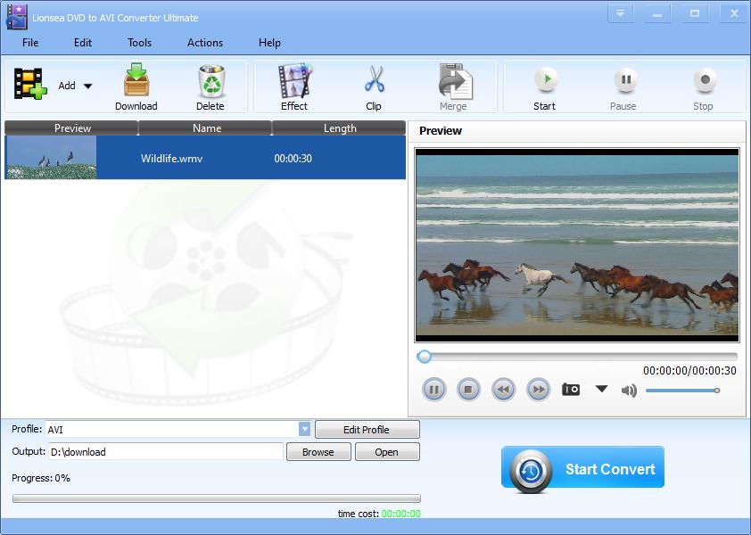 Lionsea DVD To AVI Converter Ultimate