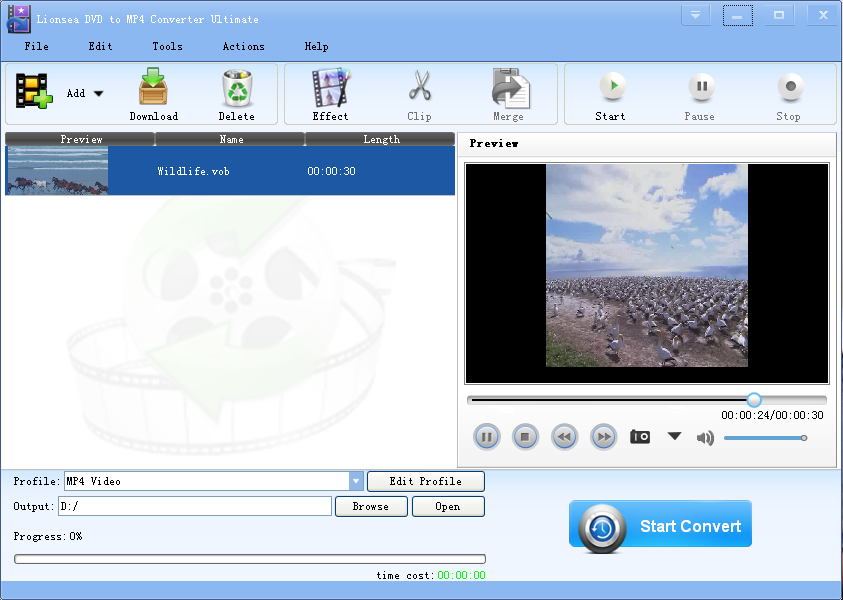 Windows 7 Lionsea DVD To MP4 Converter Ultimate 4.5.5 full