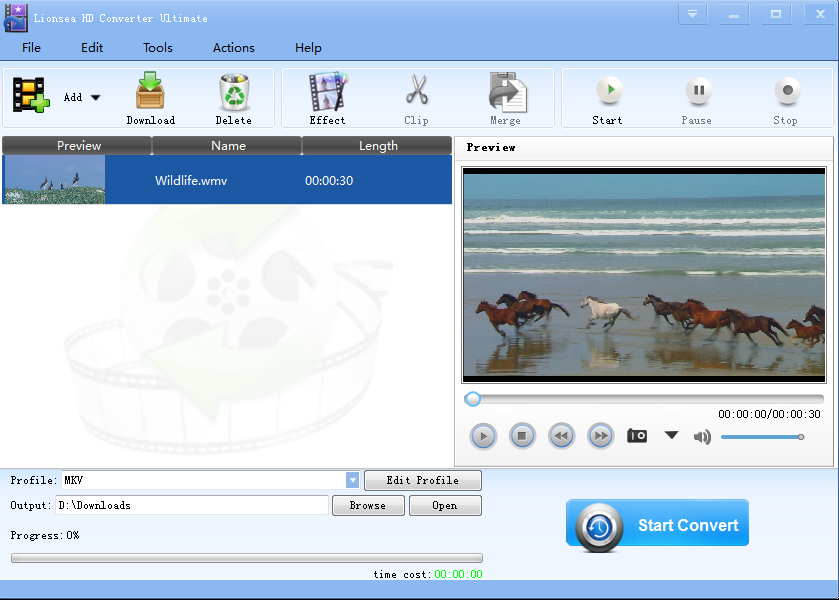 Click to view Lionsea HD Converter Ultimate 4.6.2 screenshot