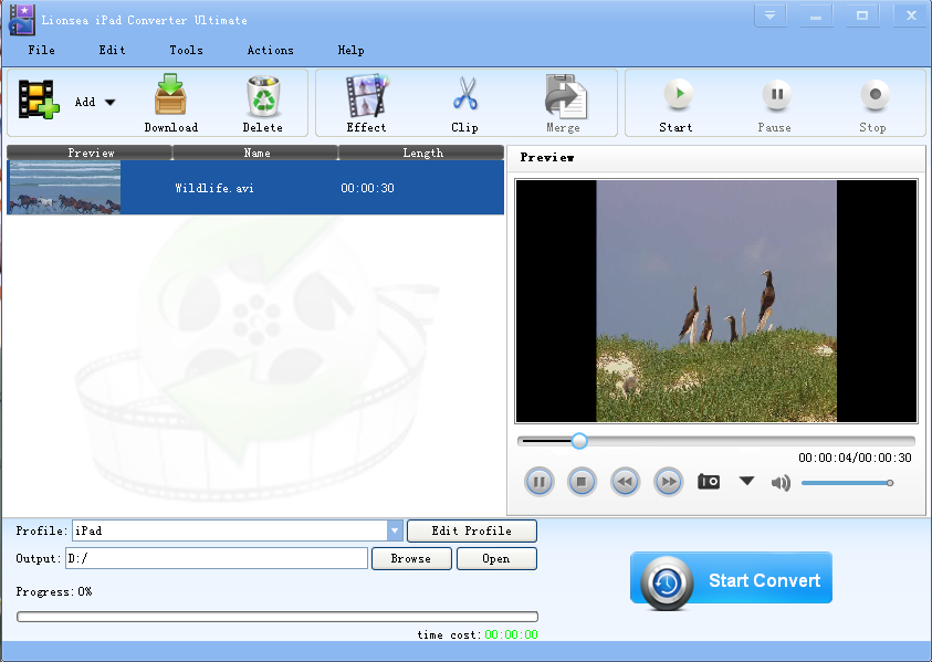 Click to view Lionsea IPad Converter Ultimate 4.4.3 screenshot