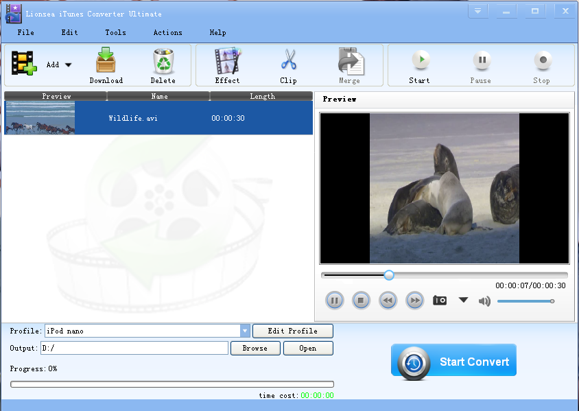 Click to view Lionsea ITunes Converter Ultimate 4.3.9 screenshot