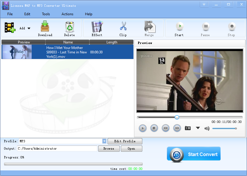 Windows 7 Lionsea M4P To MP3 Converter Ultimate 4.8.4 full