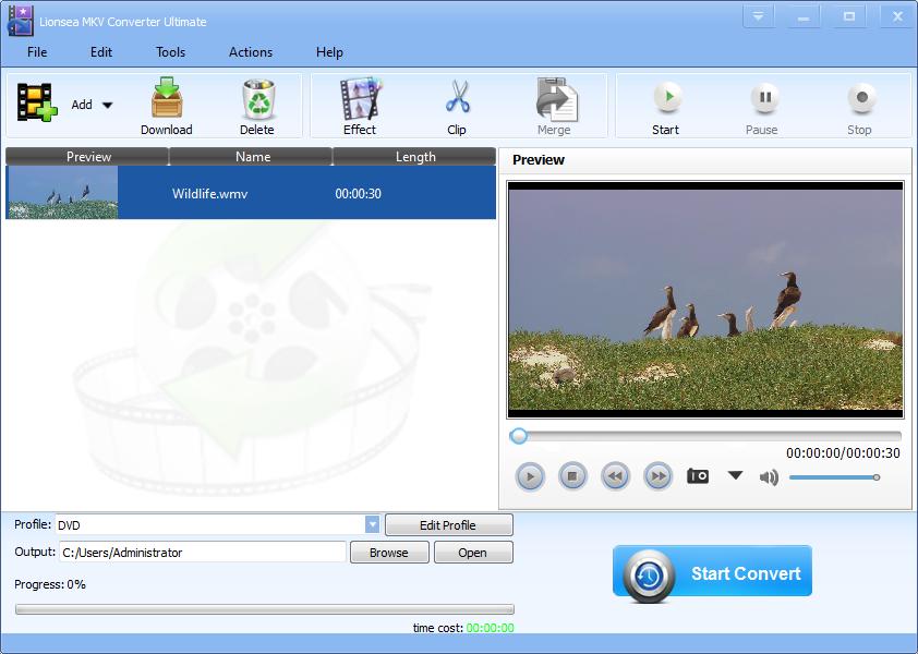 Windows 7 Lionsea MKV Converter Ultimate 4.5.8 full