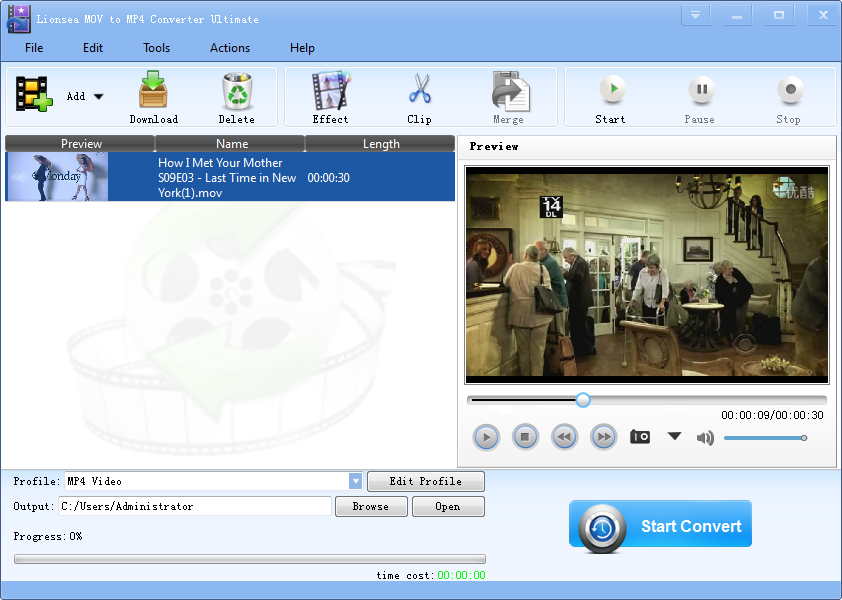 Windows 7 Lionsea MOV To MP4 Converter Ultimate 4.9.0 full