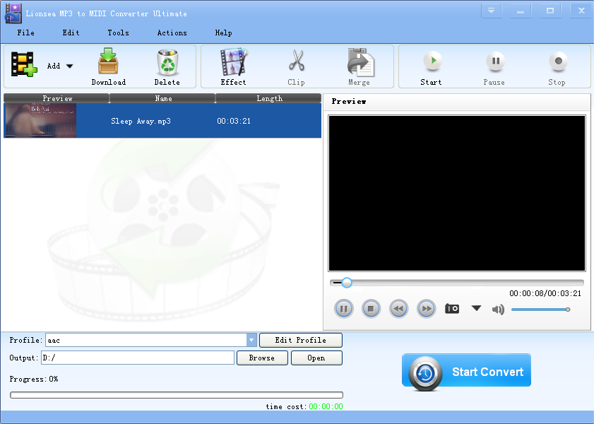 Lionsea MP3 To MIDI Converter Ultimate
