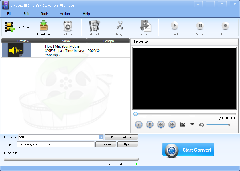 Windows 8 Lionsea MP3 To WMA Converter Ultimate full