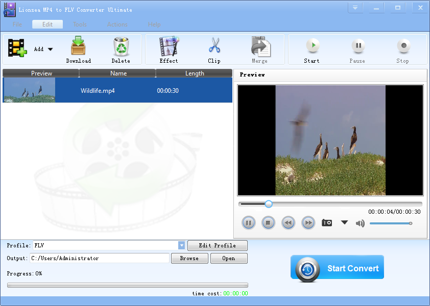 MP4 to FLV Converter is professional.