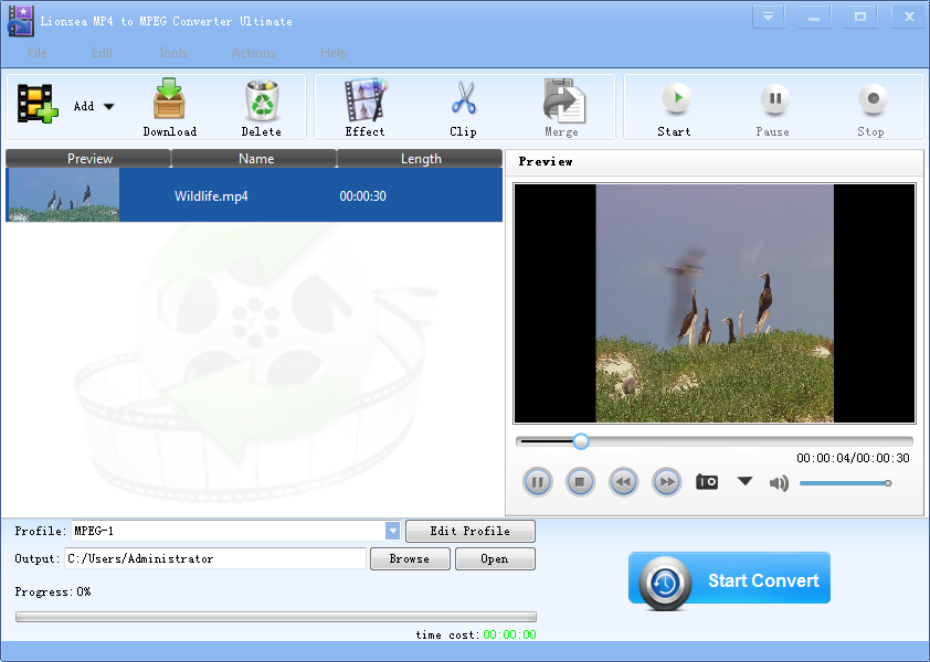 MP4 to MPEG Converter is an easy-to-use.