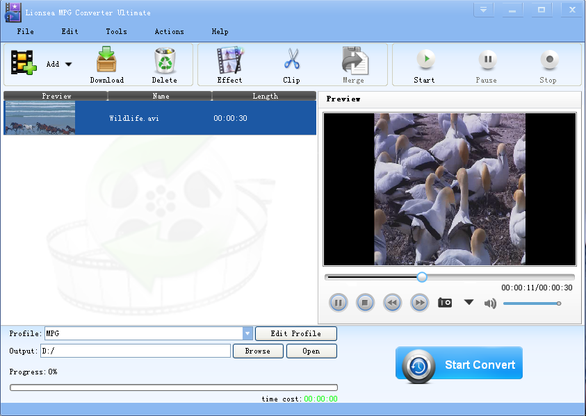Click to view Lionsea MPG Converter Ultimate 4.8.0 screenshot