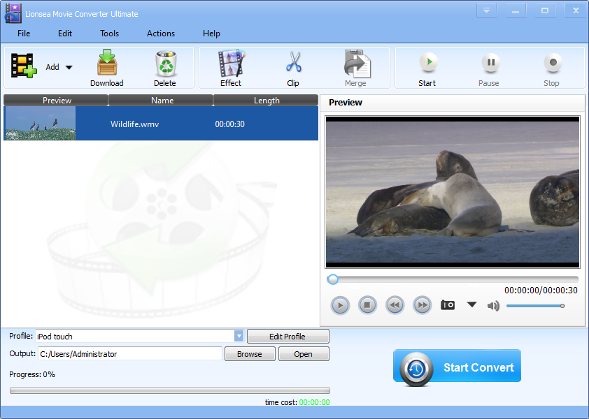 Movie Converter Converts your ideal format!