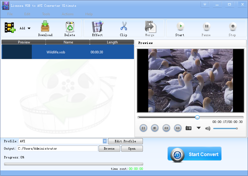 Windows 7 Lionsea VOB To AVI Converter Ultimate 4.5.8 full