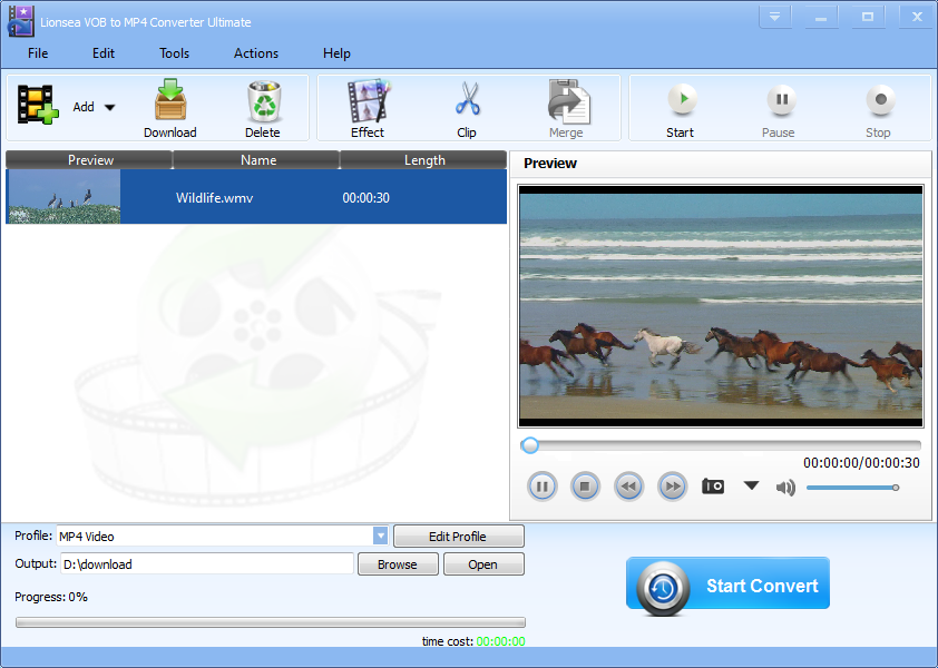 Lionsea VOB To MP4 Converter Ultimate