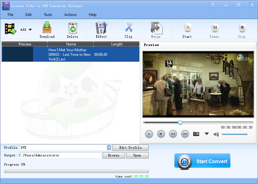 Windows 7 Lionsea Video To DVD Converter Ultimate 4.7.3 full
