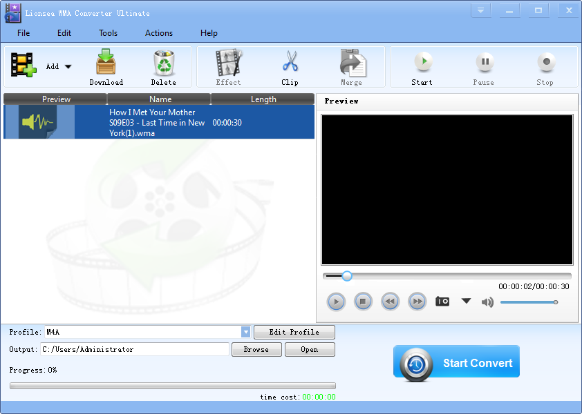 Windows 7 Lionsea WMA Converter Ultimate 4.5.3 full