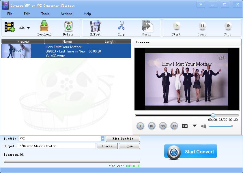 Windows 7 Lionsea WMV To AVI Converter Ultimate 4.9.7 full