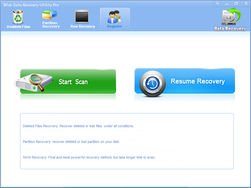 Windows 7 Wise Data Recovery Utility 2.6.3 full