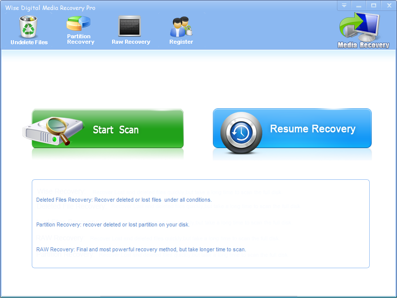 Click to view Wise Digital Media Recovery screenshots