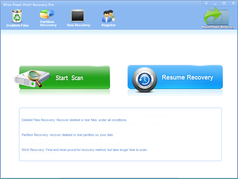 Click to view Wise Power Point Recovery screenshots