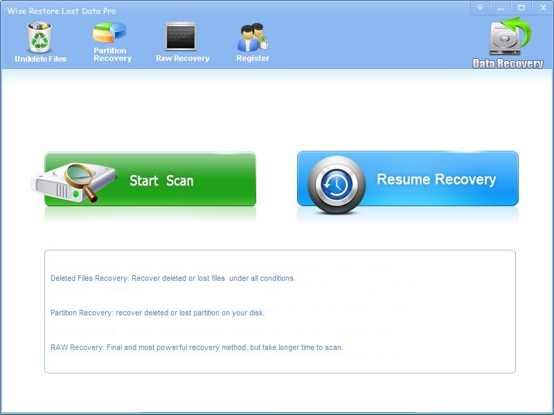 Windows 7 Wise Restore Lost Data 2.6.2 full