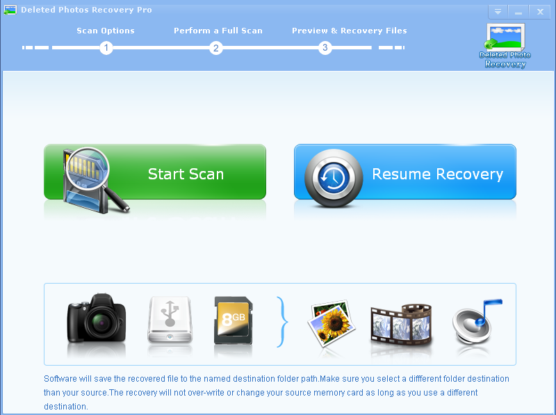 Click to view Deleted Photos Recovery Pro screenshots