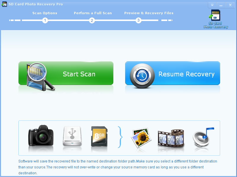 SD Card Photo Recovery Pro Screen shot